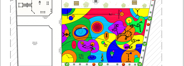 Plano de un parque de calistenia de Krealia