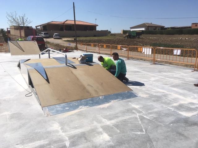 Montaje pista skate Casarrubios del Monte Toledo